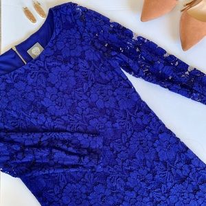 Vince Camuto 3/4 Sleeve Lace Dress Navy